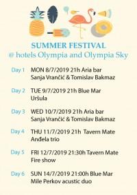 Summer festival - hoteli Olympia i Olympia Sky