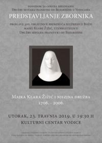 Predstavljanje Zbornika o Božjoj majci Klari Žižić i njezinoj Družbi