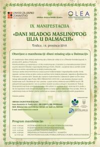 IX. Dani mladog maslinovog ulja u Dalmaciji