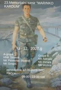 "23. Memorijalni nogometni turnir ""Marinko Kardum"""
