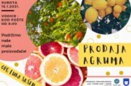 Malo vitamina za prohladne dane: Ove subote kod pošte prodaja domaćih agruma
