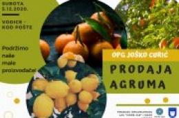 Neretvanski agrumi i ove subote kod pošte: U ponudi su mandarine, klementine, naranče i limuni