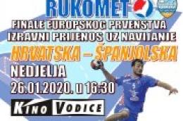 Gledajte finale Europskog prvenstva u Rukometu na velikom platnu u kinu Vodice i navijajte za Kauboje