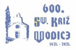 Logotip proslave 600 godina posvete i blagoslova novoobnovljene stare župne Crkve sv. Križa u Vodicama