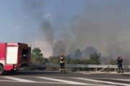 Požar je pod nadzorom: Obranila se cesta, a izgorjelo pet hektara i krovište nestambenog objekta