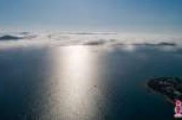 Neobična vremenska pojava: Otoci vodičkog arhipelaga prekriveni maglom