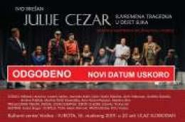 Predstava Julije Cezar koja je trebala igrati u subotu zbog najave vremenskih nepogoda odgođena