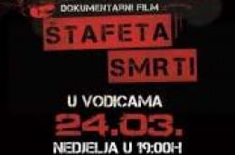 Projekcija dokumentarnog filma 'Štafeta smrti' u Kulturnom centru Vodice