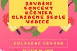 Najava: Završni koncert učenika glazbene škole Vodice