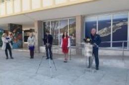 Ispred zgrade Županije održana konferencija za novinare Stožera Civilne zaštite Šibensko-kninske županije