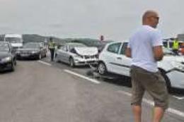 Lančani sudar kod šibenskog mosta; sudarila se četiri vozila
