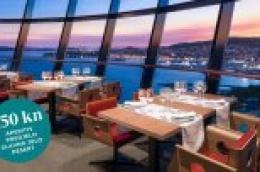 Restoran Sky: Gastro ponuda s aperitivom, couvertom, predjelom, glavnim jelom i desertom za samo 150 kn