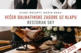 Večer Dalmatinske zagore u restoranu Sky