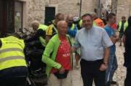 Biciklisti - hodočasnici iz Poljske na putu i hodočašću prema Međugorju posjetili grad i župu Vodice.