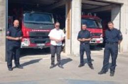 Gradonačelnik Ante Cukrov i županijski vatrogasni zapovjednik Darko Dukić u radnoj posjeti JVP Vodice