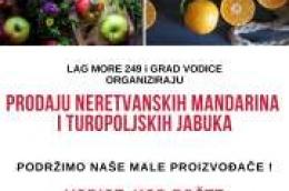 Dođite i podržite naše male proizvođače: U subotu kod pošte prodaja neretvanskih mandarina i turopoljskih jabuka