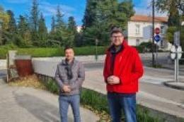 Održan radni sastanak predsjednika SDP Hrvatske Peđe Grbina i glavnog tajnika Vedrana Babića sa predsjednikom GO SDP Vodice Markom Udovičićem