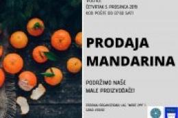 U četvrtak kod pošte prodaja domaćih mandarina