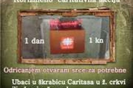 Korizmeno-caritativna akcija 1 dan 1 kuna: Darivanje, odricanje i žrtva u ljubavi za bližnje