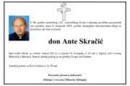 Službovao je i djelovao kao svećenik i u župi Vodice: Preminuo don Ante Skračić